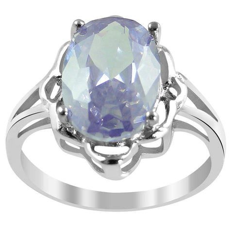 Orchid Jewelry 925 Sterling Silver 4.00 Carat Cubic Zirconia Ring