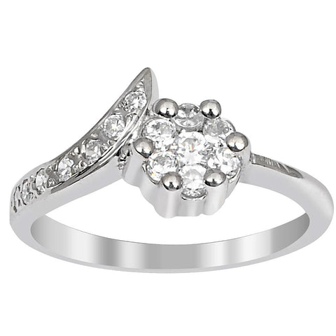 Orchid Jewelry 0.54 Carat Cubic Zirconia 925 Sterling Silver Ring