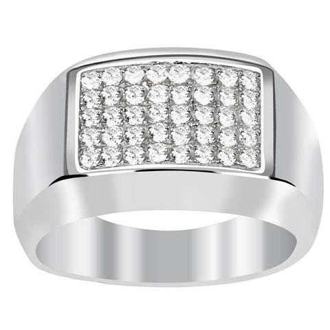Orchid Jewelry 0.80 Carat Cubic Zirconia 925 Sterling Silver Ring