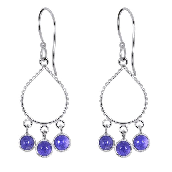 Quality Jewelry 4.15 Carat Genuine Tanzanite Fashion Dangle Earrings