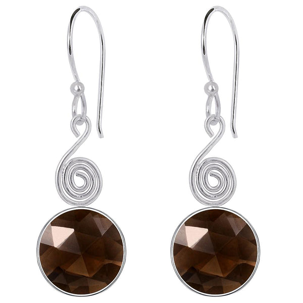 Quality Jewelry 8.25 Carat Genuine Smoky Quartz Fashion Earring