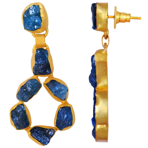 Quality Jewelry 55.00 Carat Appetite Gemstone Stud Earrings with 14K Yellow Gold Plated