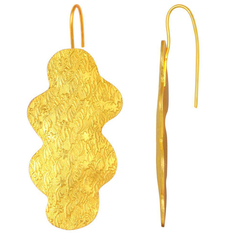 Quality Jewelry Lovely Designer Gold Plated Dangle Earring