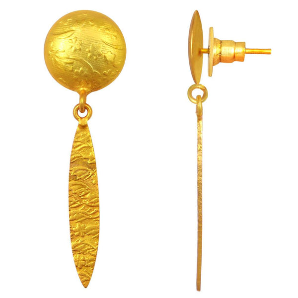 Quality Jewelry Elegant Design Gold Plated Fashion Earrings