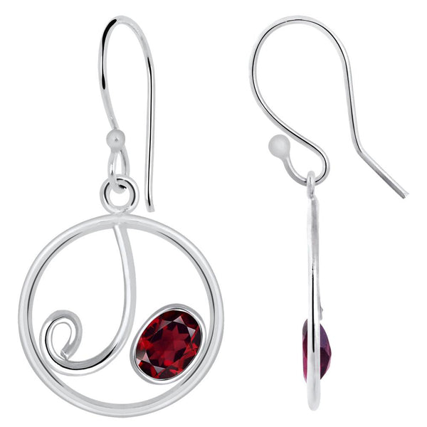 Quality Jewelry 2.20 Carat Garnet Fashion Earrings