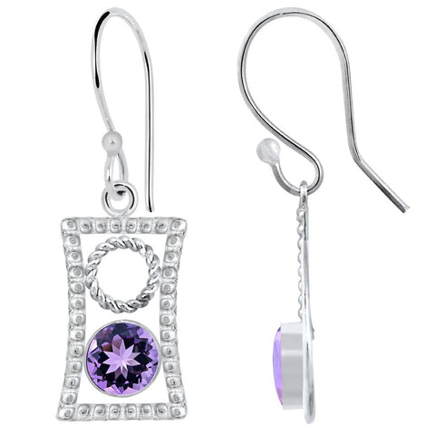 Quality Jewelry 2.00 Carat Amethyst Fashion Earrings