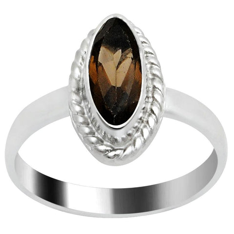 Quality Jewelry Nice Fashion Ring with 1.00 Carat Genuine Smoky Quartz