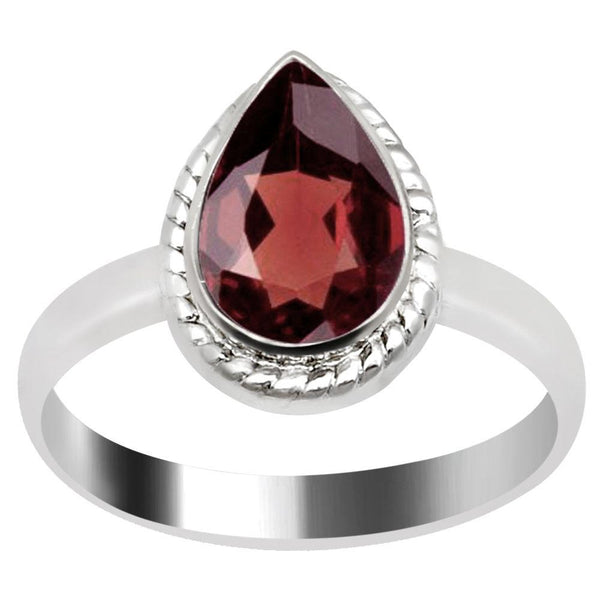 Quality Jewelry 1.50 Carat Genuine Garnet White Gold Plated Fashion Ring