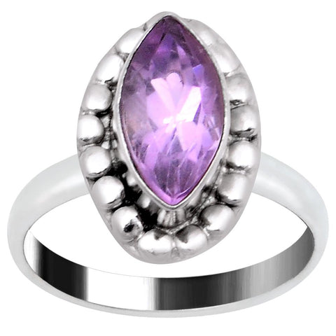 Quality Jewelry 1.65 Carat Amethyst White Gold Plated Handmade Fashion Jewelry Ring