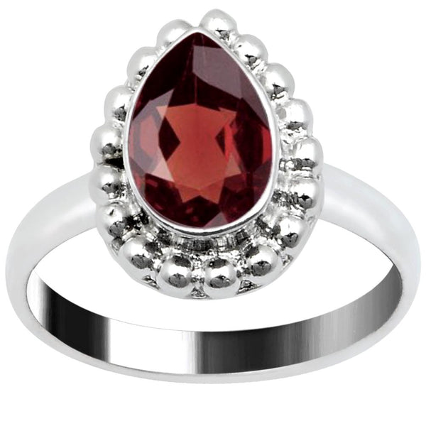Quality Jewelry 1.50 Carat Garnet White Gold Plated Fashion Ring