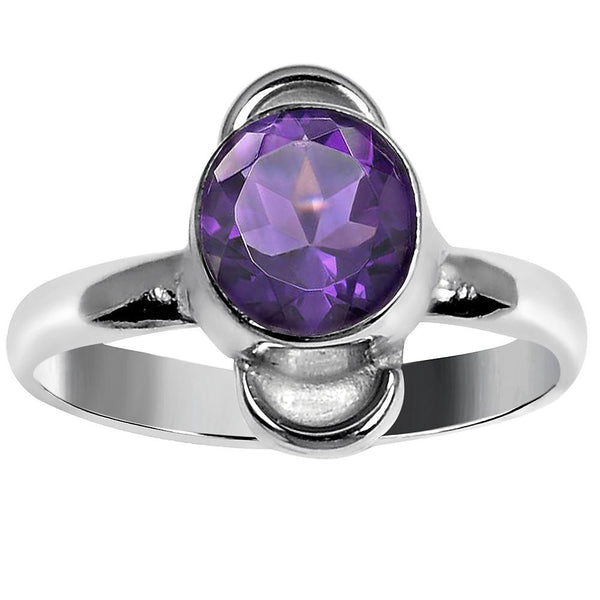 Quality Jewelry 1.25 Carat Amethyst White Gold Plated Fashion Ring