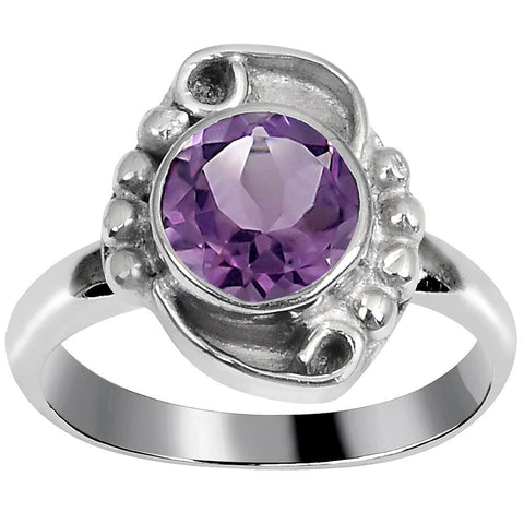 Quality Jewelry 1.30 Carat Amethyst White Gold Plated Fashion Ring