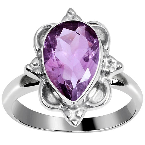 Quality Jewelry 2.70 Carat Amethyst White Gold Plated Fashion Ring