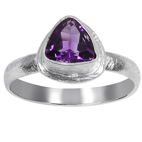 Quality Jewelry 10.00 Carat Amethyst White Gold Plated Ring