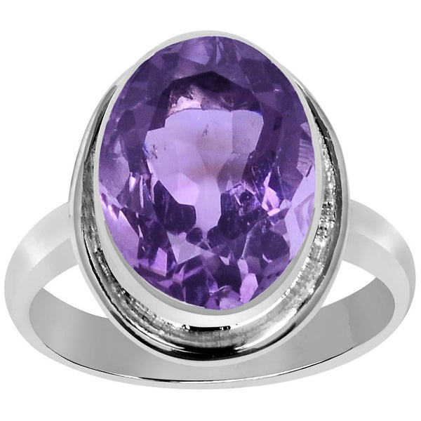 Quality Jewelry 5.50 Carat Amethyst White Gold Plated Fashion Ring
