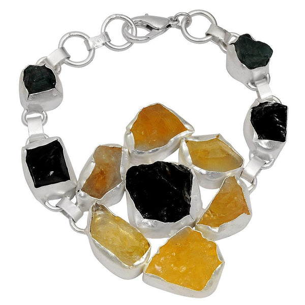 Quality Jewelry 140.00 Carat Genuine Smoky Quartz, Citrine and Appetite Bracelet
