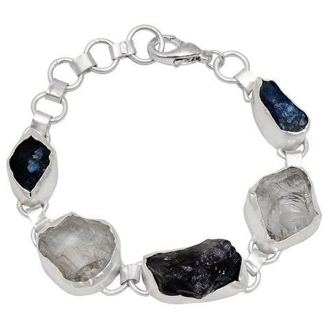 Quality Jewelry 80.00 Carat Amethyst, Crystal Quartz, and Appetite Fashion Bracelet