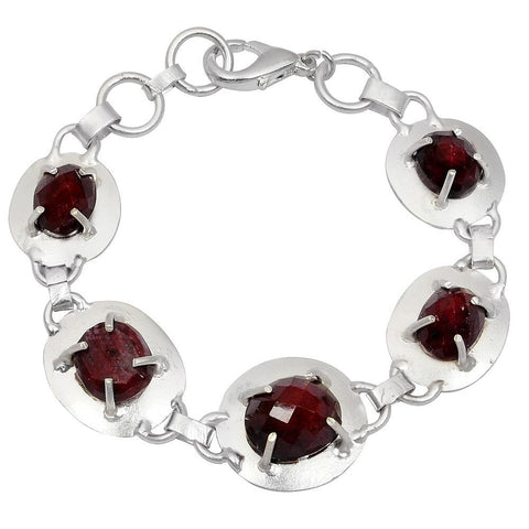 Quality Jewelry 40.00 Carat Ruby Fashion Bracelet