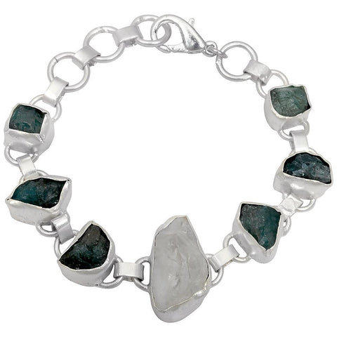 Quality Jewelry 65.00 Carat Crystal Quartz and Apatite Fashion Bracelet
