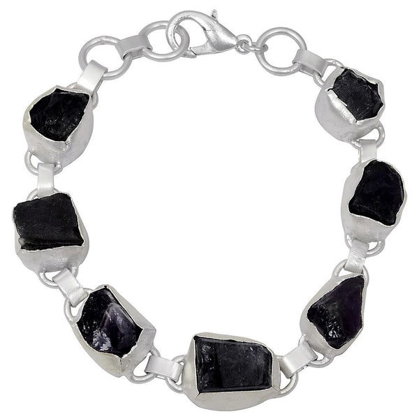 Quality Jewelry 55.00 Carat Amethyst Fashion White Gold Plated Bracelet