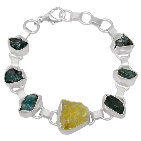 Quality Jewelry 60.00 Carat Citrine and Apatite Fashion Bracelet