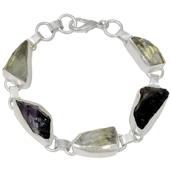 Quality Jewelry 60.00 Carat Amethyst and Green Amethyst Fashion Bracelet