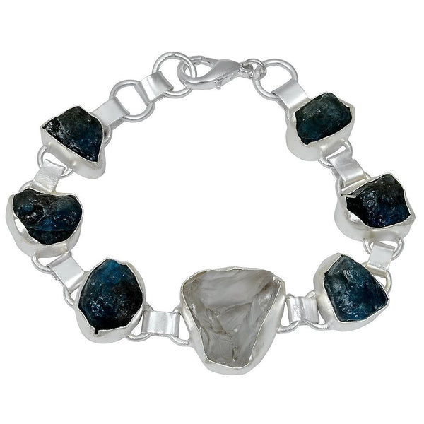 Quality Jewelry 75.00 Carat Crystal Quartz and Apatite Fashion Bracelet