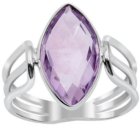 Quality Jewelry 3.20 Carat Amethyst White Gold Plated Fashion Ring