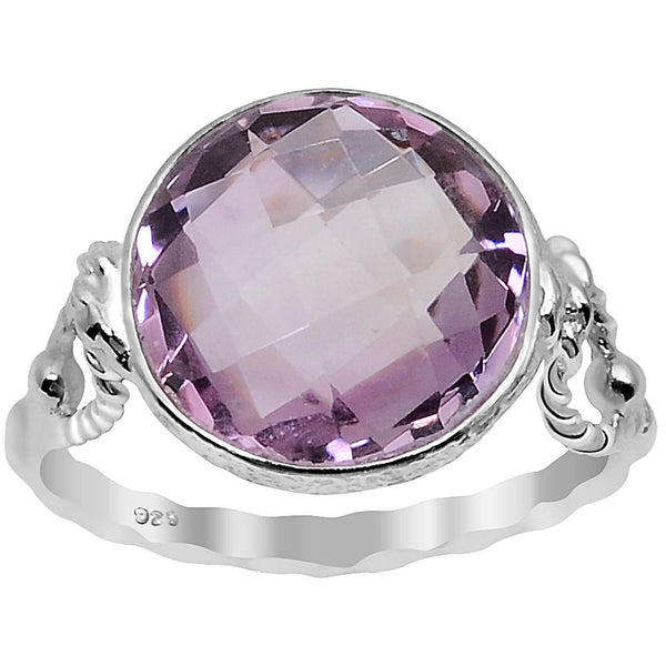 Quality Jewelry 5.40 Carat Pink Amethyst White Gold Plated Fashion Ring