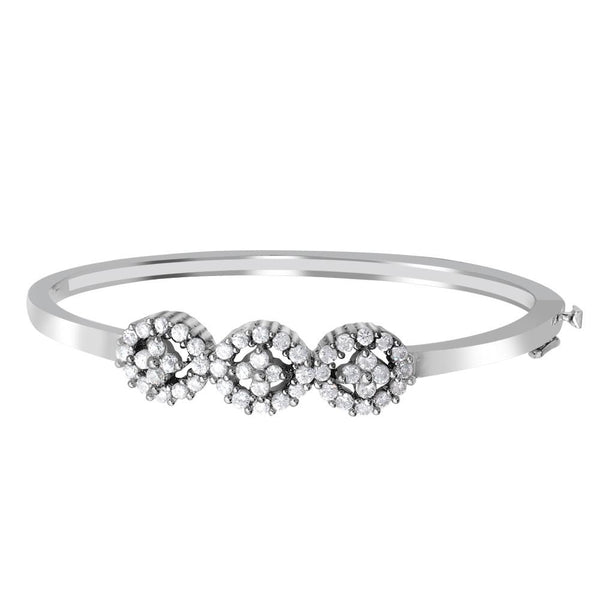Orchid Jewelry 925 Sterling Silver 2.40 Carat Cubic Zirconia Bangle