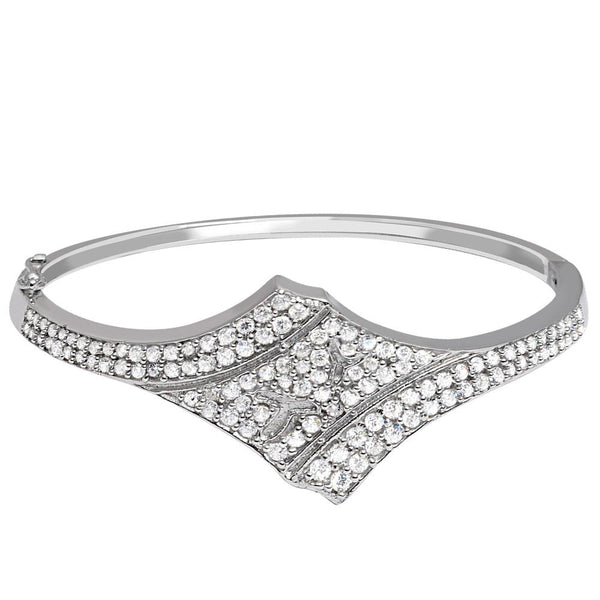 Orchid Jewelry 925 Sterling Silver 3.33 Carat Cubic Zirconia Bangle