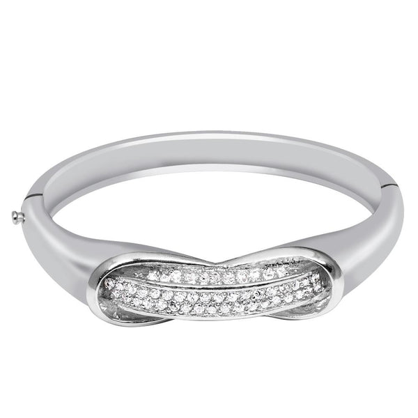 Orchid Jewelry 1.30 Carat Cubic Zirconia 925 Sterling Silver Bangle