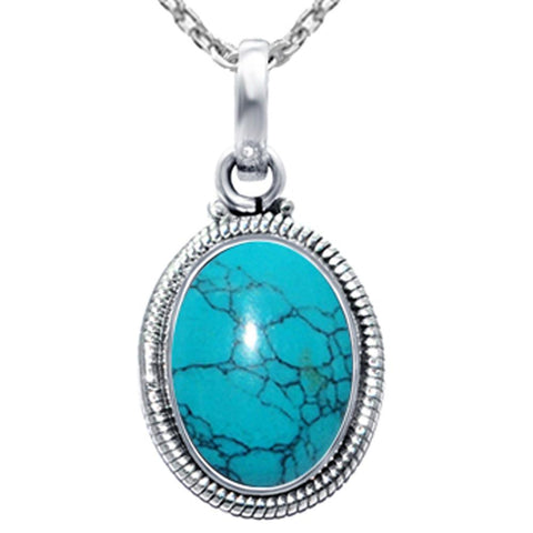 Orchid Jewelry 925 Sterling Silver Birthstone Oval Shape Pendant Necklace