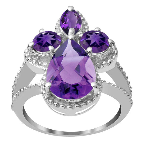 Orchid Jewelry Beautiful 925 Sterling Silver Gemstone Bridal Ring with Choice of Gemstone