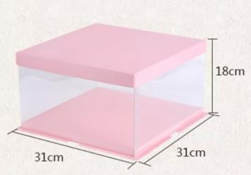 Cake Box 31cm-dia  Single Layer cake  Pink Top and Bottom