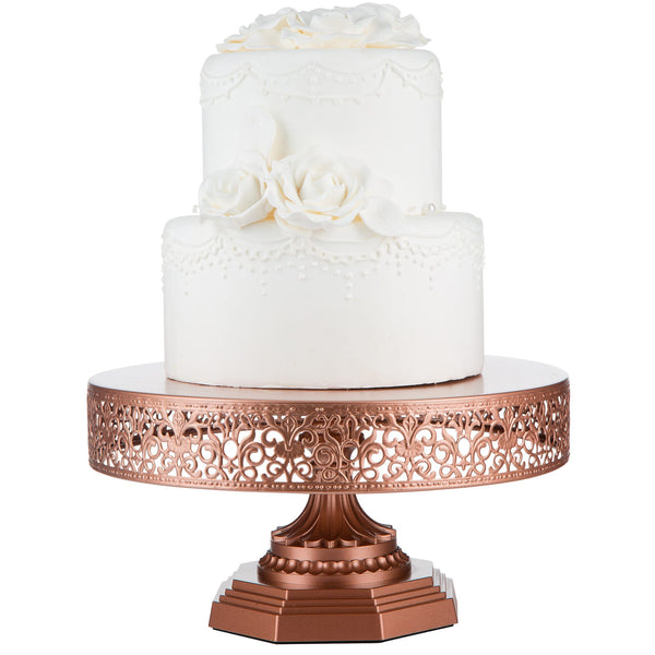 12-Inch Rose Gold Metal Wedding Cake Stand | Amalfi Decor AU