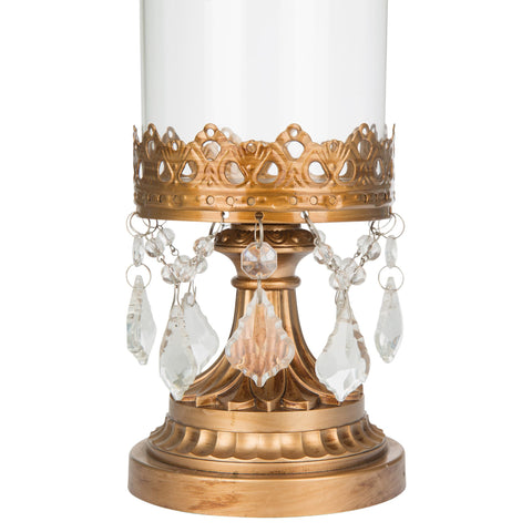 Vintage Gold Hurricane Candle Holder | Amalfi Decor AU