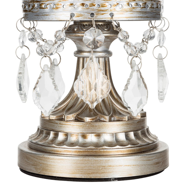 Vintage Silver Hurricane Candle Holder | Amalfi Decor AU