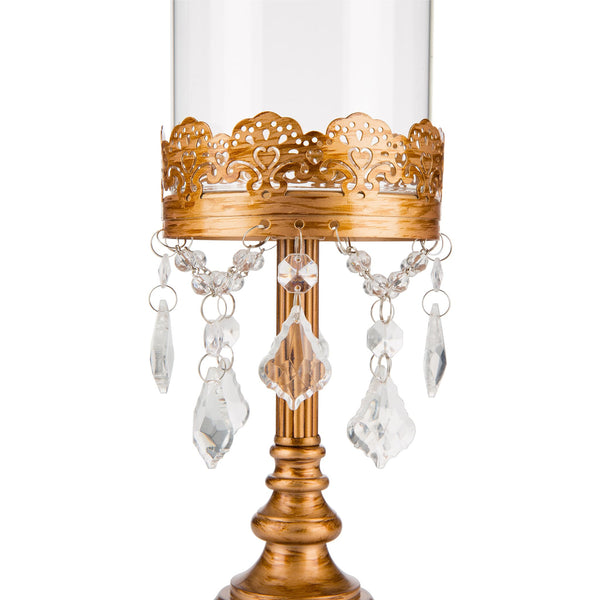 35 cm Gold Hurricane Candle Holder | Amalfi Decor AU