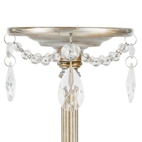 3-Piece Pillar Candle Holder Set | Silver | Victoria Collection
