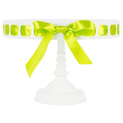 3-Piece White Tall Ribbon Cake Stand Set | Amalfi Decor AU