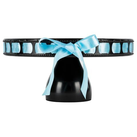 3-Piece Black Modern Ribbon Cake Stand Set | Amalfi Decor AU