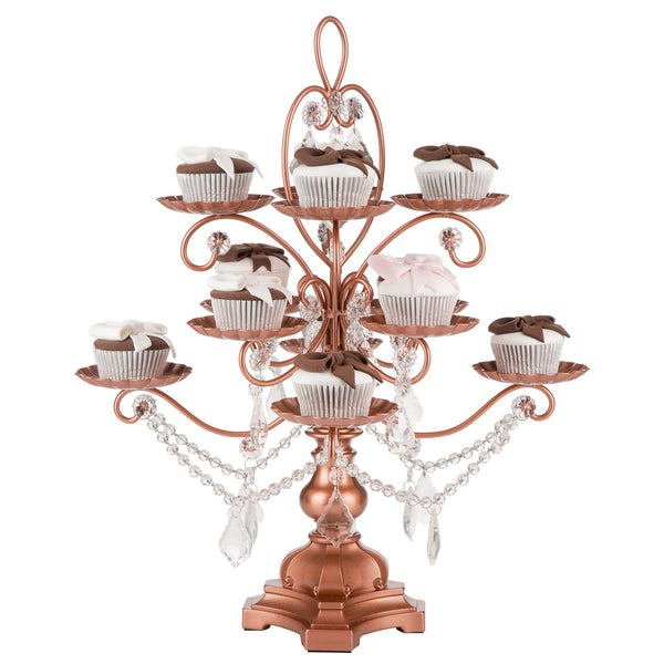 12-Piece Rose Gold Cupcake & Dessert Stand | Amalfi Decor AU