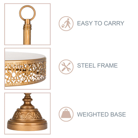 3-Tier Antique Gold Reversible Cupcake Stand | Amalfi Decor AU