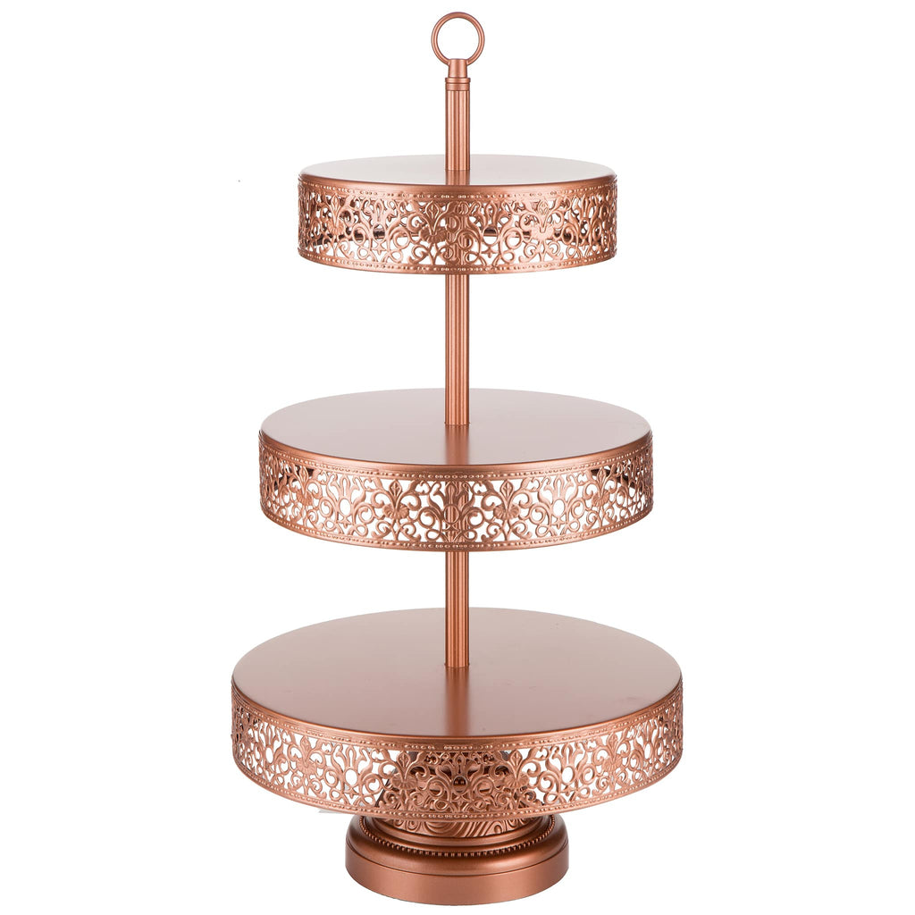 3 tier rose gold reversible cupcake stand amalfi decor au. Black Bedroom Furniture Sets. Home Design Ideas