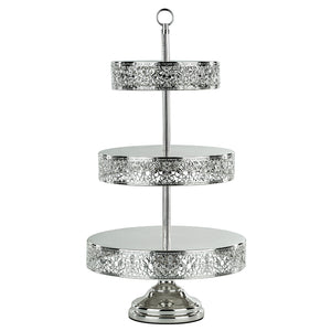 3-Tier Reversible Cupcake Stand | Silver Plated | Le Gala Collection