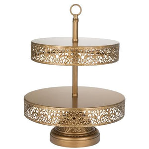 2-Tier Reversible Cupcake Stand | Gold | Victoria Collection CS304VG