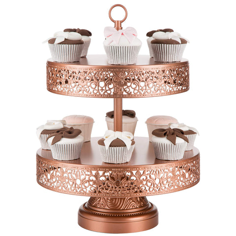 2-Tier Rose Gold Reversible Cupcake Stand | Amalfi Decor AU