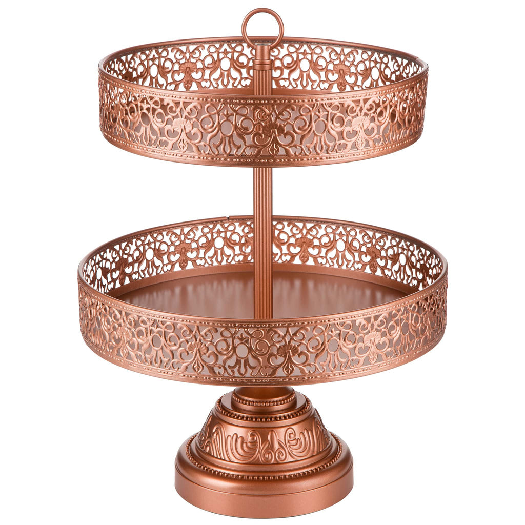 2 tier rose gold reversible cupcake stand amalfi decor au. Black Bedroom Furniture Sets. Home Design Ideas