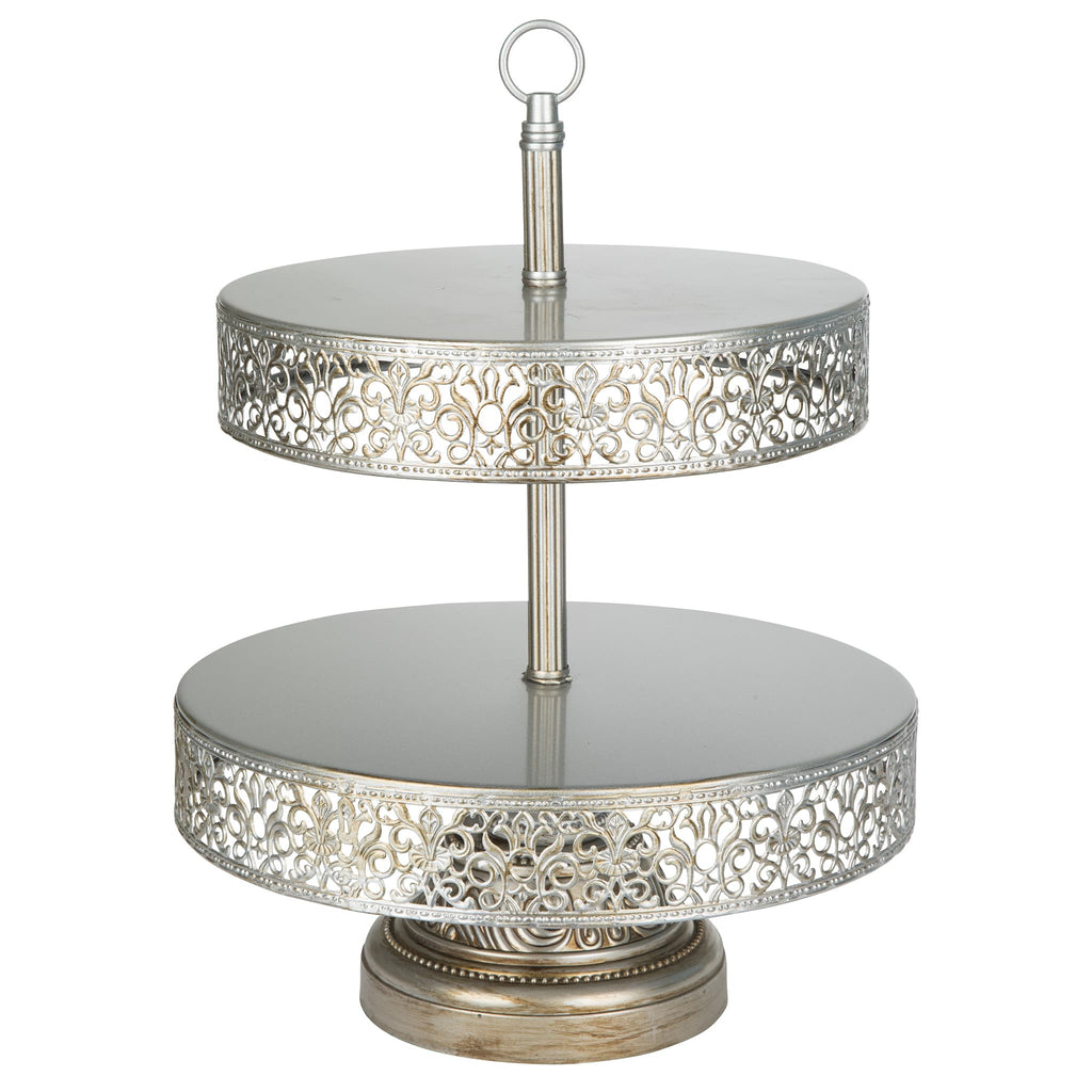 amalfi decor wedding cake stand 2 tier antique silver reversible cupcake stand amalfi 10698